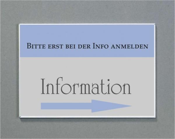 Wandschild   System Karlsruhe   DIN A6 quer